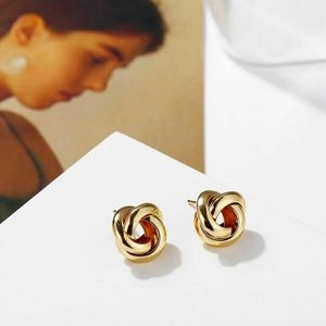 Geometric Knot Stud Earrings